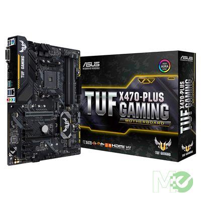 MX71510 TUF X470-PLUS GAMING w/ DDR4 2666, 7.1 Audio, Dual M.2, Gigabit LAN, CrossFireX