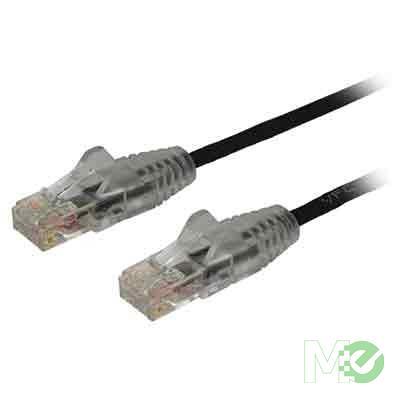 MX71723 Snagless Slim RJ45 Cat 6 Patch Cable, M/M, Black, 6ft.