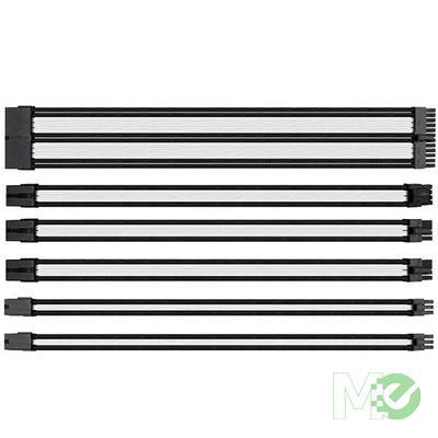 MX71853 TtMod Sleeve PSU Extension Cable, White/Black