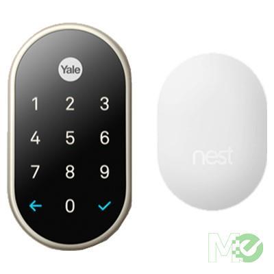 MX71982 x Yale Lock, w/ Nest Connect Wireless Module, Digital Keylock, Satin Nickel