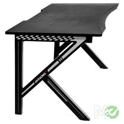 MX72823 Summit Gaming Desk, Black / White w/ Mouse Pad