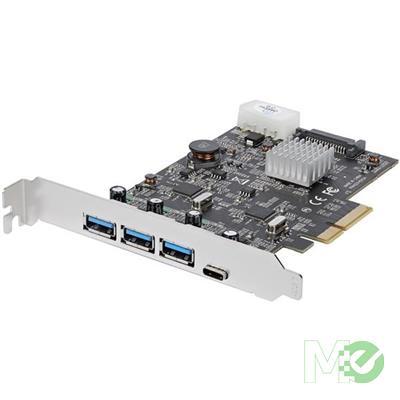 MX73189 4-Port USB 3.1 Gen 2 (10Gbps) PCI-E Controller Card w/ 1x USB-C and 3x USB-A