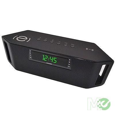 MX73239 SPBT029 Slim Jam Bluetooth Portable Speaker w/ Audio Streaming, FM Tuner, microSD Card Reader, Speaker Phone, Black