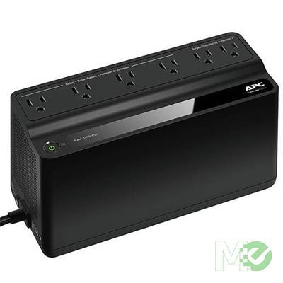 MX73315 Back-UPS 450VA 120V w/ 1 USB, 5 Battery Backup Outlets, 2 Surge Outlets