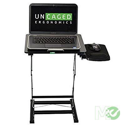 MX75437 OS5-B Ergonomics Laptop Sit/Stand Desk Converter w/Mousepad, Extra Tall, Black