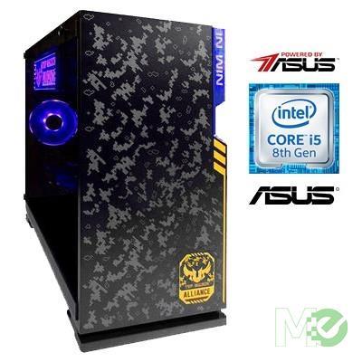 MX75441 Powered By ASUS™ PBA100I Gaming PC w/ Core™ i5-8600, 16GB RGB, 240GB SSD + 1TB HDD, RTX 2060, Windows 10 Home