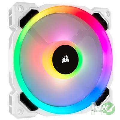 MX75501 LL120 RGB LED Dual Light Loop PWM Fan, 120mm, White