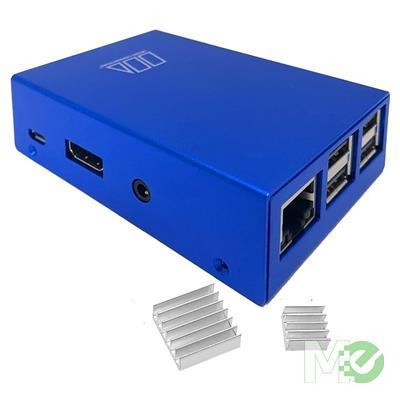 MX75739 Aluminum Raspberry Pi B / B+ Case w/ Dual Heat Sinks, Blue