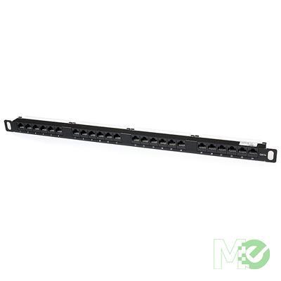 MX75752 24-Port 0.5U Rackmount Cat5e 110 Patch Panel