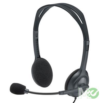 MX75848 H111 Stereo Headset w/ Microphone, Black