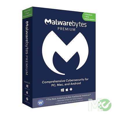 MX75891 Malwarebytes Premium 3.0 for 3 Users, for 1 Year