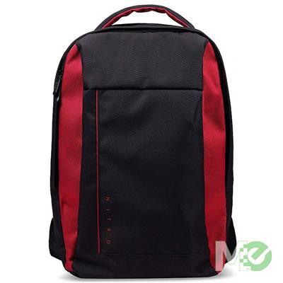 MX76019 Nitro Gaming Backpack, 15.6in, Black/Red