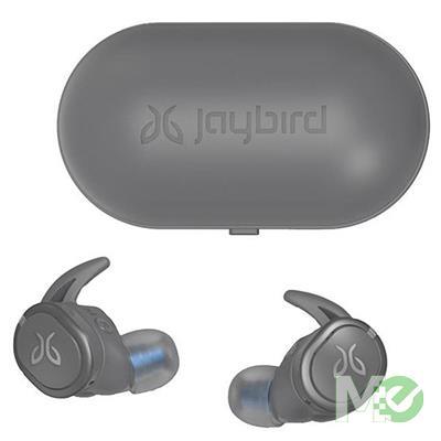 MX76550 Jaybird Run XT True Wireless Sport In-Ear Earphones w/ Bluetooth, Storm-Gray