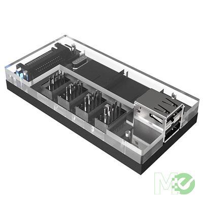 MX76701 Acrylic Internal USB 2.0 Hub w/ Magnetic Base