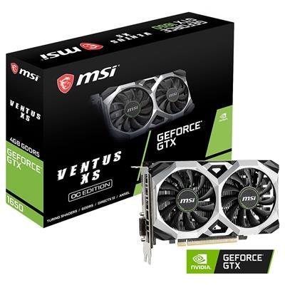 MX76758 GeForce GTX 1650 VENTUS XS 4GB OC PCI-E w/ DVI, HDMI, DisplayPort