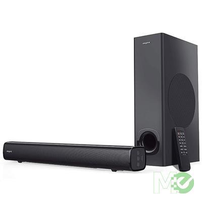 MX77317 Stage 2.1 High Performance Wireless Soundbar w/ Subwoofer, Black