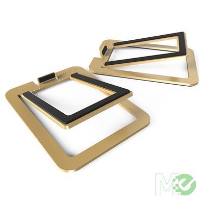 MX78094 S2 Desktop Stands For YU2 Speakers, 1 Pair, Brass