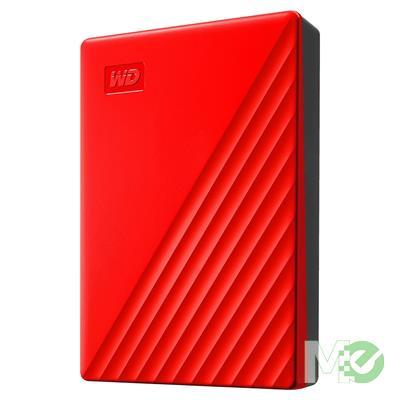 MX78692 2TB My Passport Portable HDD, USB 3.2, Red