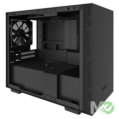 MX79029 H210 Mini ITX Case w/ Full Sized Tempered Gass Panel, Black