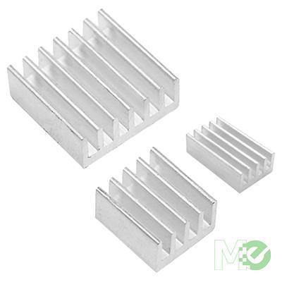 MX79352 Aluminum Heat Sink Kit for Raspberry Pi, 3 Pieces