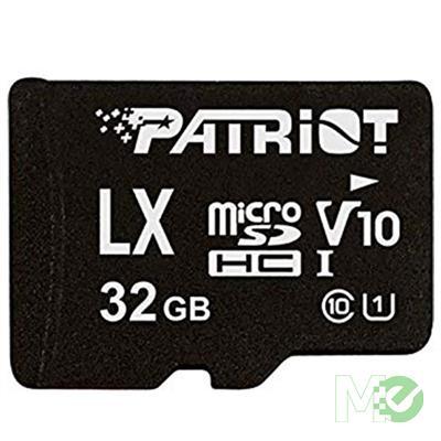 MX79494 LX Series microSDHC UHS-I V10 Memory Card w/ Adapter, 32GB