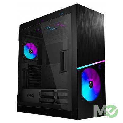 MX80392 MPG Sekira 500X Mid Tower E-ATX Case w/ 3x Tempered Glass Panels, 4x 200mm Fans, 1x 120mm Fan, 8 in 1 ARGB Fan Controller, Black