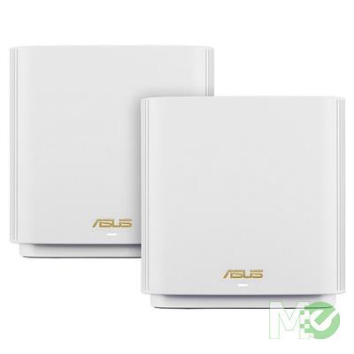 MX80471 ZenWiFi AX6600 XT8 Mesh Router Kit, 2 Pack, White