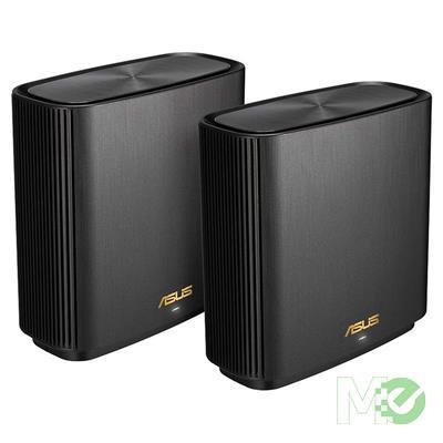 MX80474 ZenWiFi AX6600 XT8 Mesh Router Kit, 2 Pack, Charcoal