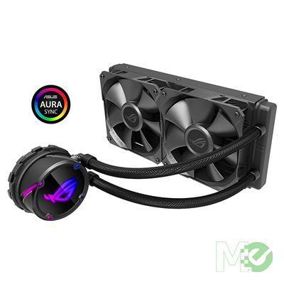 MX80552 ROG STRIX LC 240 Liquid CPU Cooler w/ Aura Sync RGB Pump, 240mm Radiator
