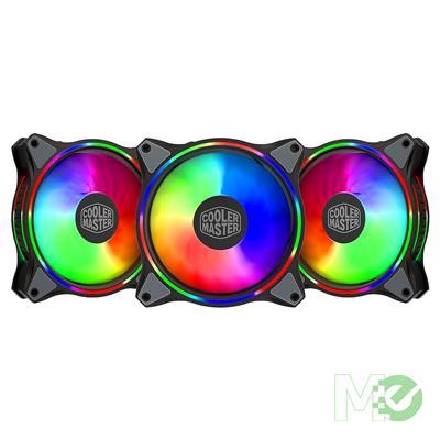 MX80570 MasterFan MF120 Halo Fan Kit w/ 3x MF120 Halo 120mm ARGB Fans, ARGB Controller