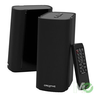 MX80812 T100 2.0 Compact Hi-Fi 2.0 Desktop Speakers w/ Remote