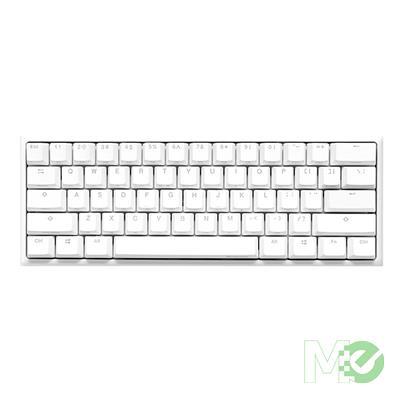 MX81407 One2 Mini Pure White RGB V2 60% Gaming Keyboard w/ MX Silver Switch