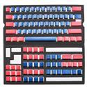 MX00113764 PBT Seamless Doubleshot Pudding Keycap Set, 108-Keys, Blue Alpha