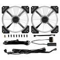 MX77122 Crown AC 120 ARGB LED 120mm Fan Kit, 2 Pack w/ RGB LED Controller